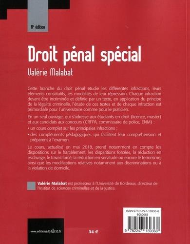 Droit pénal spécial 8e édition