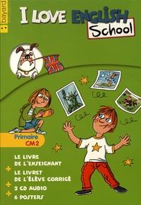 Valérie Menneret - I Love English School CM2 - Le kit enseignant : livre de l'enseignant + livret de l'élève corrigé + posters. 2 CD audio