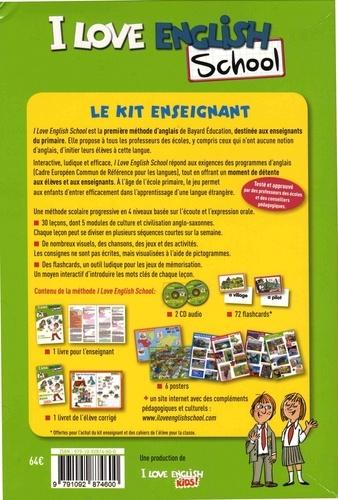 I Love English School CM2. Le kit enseignant : livre de l'enseignant + livret de l'élève corrigé + posters  avec 2 CD audio