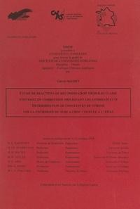 Valérie Naudet - Étude de réactions de recombinaison trimoléculaire d'intérêt en combustion impliquant les atomes H et O, détermination de constantes de vitesse par la technique du tube à choc couplée à l'ARAS - Thèse présentée à l'Université d'Orléans pour obtenir le grade de Docteur de l'Université d'Orléans, discipline, chimie, spécialité, cinétique, chimique appliquée.
