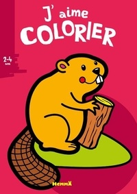 Valérie Pernot - J'aime colorier Castor.