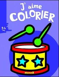 Valérie Pernot - J'aime colorier (Tambour) - 2-4 ans.