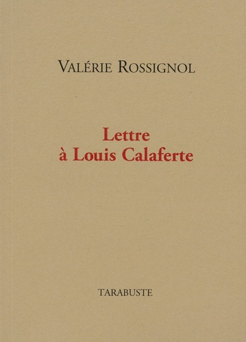 Lettre à Louis Calaferte
