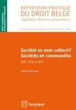 Valérie Simonart - Société en nom collectif, sociétés en commandite SNC, SCS et SCA.