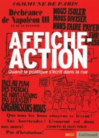 Valérie Tesnière et Nathalie Jakobowicz - Affiche, Action - Quand la politique s'écrit dans la rue.