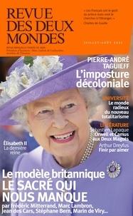 Valérie Toranian - Revue des deux Mondes Juillet-août 2021 : Le modèle britannique - Le sacré qui nous manque.
