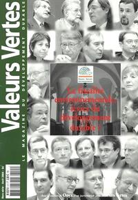 Philippe Richert et Bernard Rousseau - Valeurs vertes N°Hors-série, avril : La fiscalité environnementale levier du développement durable ? - Hors-série.
