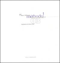 Jean-Yves Casanova - Méthode ! N° 3, Automne 2002 : Agrégations de lettres 2003.