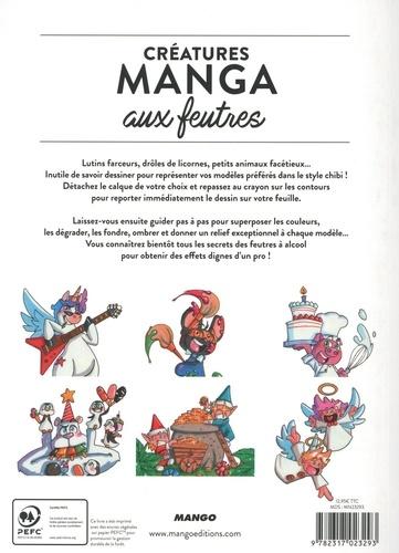 Créatures manga aux feutres. Avec des calques à taille réelle