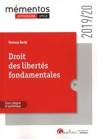 Vanessa Barbé - Droit des libertés fondamentales.
