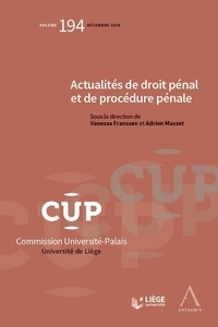 Téléchargez des comptes gratuits Actualités de droit pénal et de procédure pénale par Vanessa Franssen, Adrien Masset (French Edition)