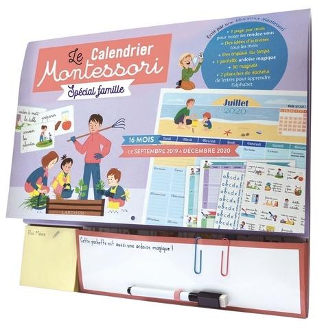 Vanessa Robidou - Le Calendrier Montessori Spécial famille - Avec un feutre magique.