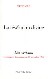 La révélation divine- Dei verbum, Constitution dogmatique du 18 novembre 1965 -  Vatican II |