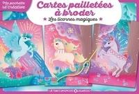 Vayounette - Cartes pailletées à broder - Les licornes magiques.