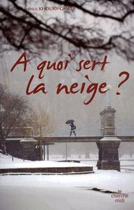 Vénus Khoury-Ghata - A quoi sert la neige ?.