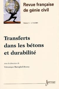 Histoiresdenlire.be Revue française de génie civil Volume 5 N° 2-3/2001 : Transferts dans les bétons et durabilité Image