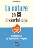 Véronique Bonnet - La nature en 25 dissertations - Sujet des concours EC 2015.