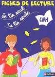 Véronique Calle et Laurence Ferrand - Je lis seul, tu lis seule... - Fiches de lecture CM1.