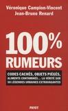 Véronique Campion-Vincent et Jean-Bruno Renard - 100 % rumeurs - Codes cachés, objets piégés, aliments contaminés... La vérité sur 50 légendes urbaines extravagantes.