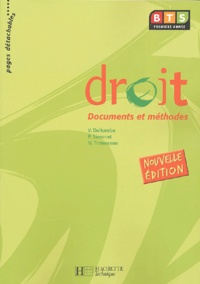 Véronique Deltombe et Pascal Simonet - Droit BTS 1e année - Documents et méthodes.