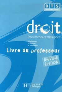Véronique Deltombe et P Simonet - Droit BTS deuxième année - Livre du professeur.