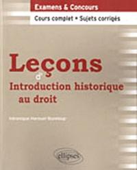 Véronique Harouel-Bureloup - Leçons d'Introduction historique au droit.