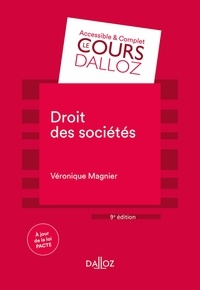 Véronique Magnier - Droit des sociétés - 9e éd..
