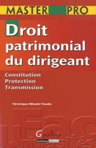 Droit patrimonial du dirigeant.pdf