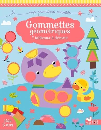 Gommettes géométriques. 7 tableaux à décorer
