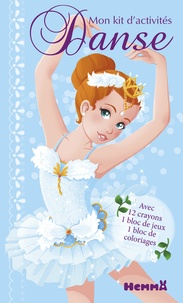 Véronique Raskinet - Mon kit d'activités Danse - 12 crayons de couleur, 1 bloc de jeux, 1 bloc de coloriages.