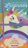 Véronique Raskinet - Mon kit d'activités Licornes - 12 crayons de couleur, 1 bloc de jeux, 1 bloc de coloriages.