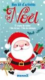 Véronique Raskinet - Mon kit d'activités Noël - Coffret avec 12 crayons de couleur, 1 bloc de jeux et 1 bloc de coloriages.