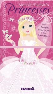 Véronique Raskinet - Mon kit d'activités Princesses papillons - 12 crayons de couleur, 1 bloc de jeux, 1 bloc de coloriages.