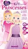 Véronique Raskinet et Amandine Wanert - Mon kit d'activités Princesses - Avec 12 crayons, 1 bloc de jeux, 1 bloc de coloriages.