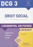 Véronique Roy - Droit social DCG 3 - L'essentiel en fiches.