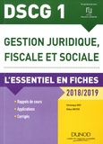 Véronique Roy et Gilles Meyer - Gestion juridique, fiscale et sociale DSCG 1.
