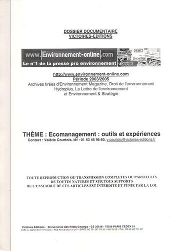 Victoires - Ecomanagement : outils et expériences - Dossier documentaire.