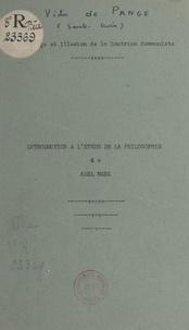 Victor de Pange - Prestige et illusion de la doctrine communiste - Introduction à l'étude de la philosophie de Karl Marx.