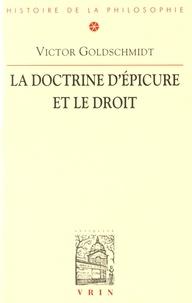 La doctrine d'Epicure et le droit - Victor Goldschmidt |