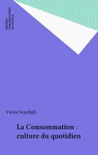 Victor Scardigli - La Consommation, culture du quotidien.