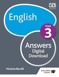 Victoria Burrill - English Year 3 Answers.