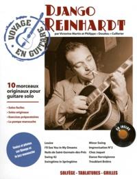 """Victorine Martin et Philippe """"Doudou"""" Cuillerier - Django Reinhardt - 10 morceaux originaux pour guitare solo. 1 CD audio"""