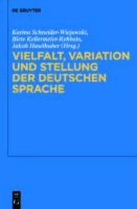 Vielfalt, Variation und Stellung der deutschen Sprache.