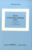 Giovanni Busino et Vilfredo Pareto - Oeuvres complètes - Tome 26, Ecrits d'économie politique pure.
