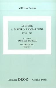 Giovanni Busino et Vilfredo Pareto - Oeuvres complètes - Tome 28, Lettere a Maffeo Pantaleoni - Pack en 3 volumes Tomes 1, 2, 3.
