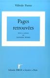 Giovanni Busino et Vilfredo Pareto - Oeuvres complètes - Tome 29, Pages retrouvées.