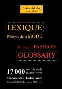 Lexique Bilingue De La Mode Francais Anglais Anglais