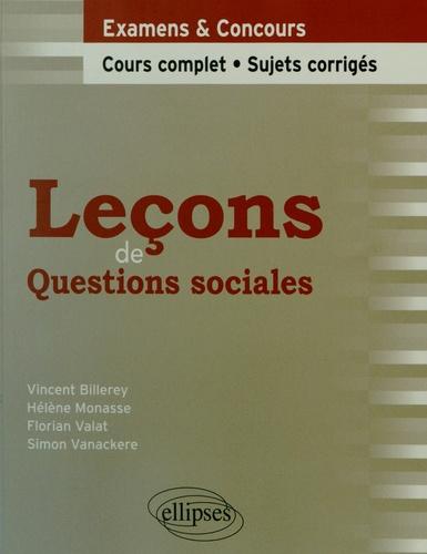 Vincent Billerey et Hélène Monasse - Leçons de questions sociales.