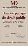 Vincent Bouhier et Norbert Foulquier - Théorie et pratique du droit public - En hommage à Olivier Févrot.