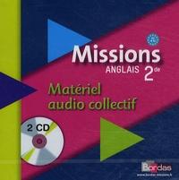 Vincent Burgatt - Anglais 2e Missions - 2 CD audio collectif.